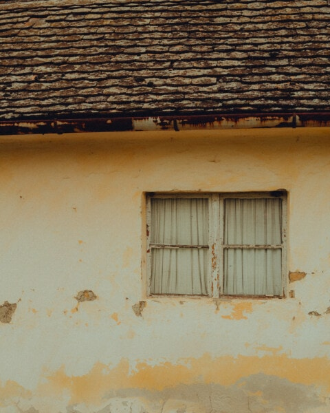 house, window, abandoned, ruin, decay, old, rooftop, wall, roof, architecture