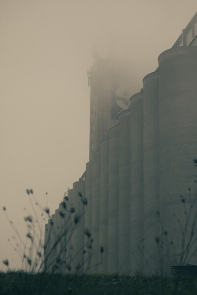 factory, workplace, silo, smoke, foggy, recycling plant, smog, pollution, fog, mist