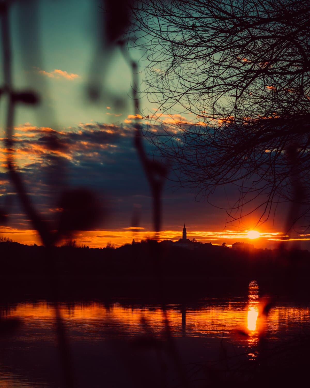 levers de soleil, crépuscule, paysage, majestueux, aube, équipement, paysage, coucher de soleil, éclairage, soleil