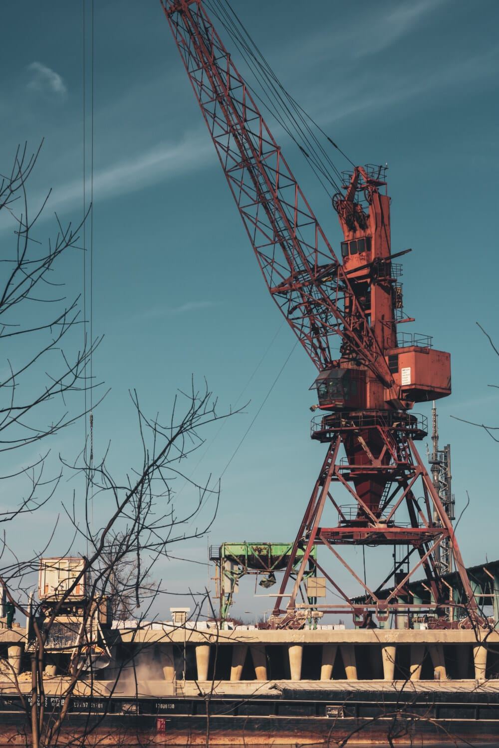 industrial, factory, construction, crane, heavy, steel, machinery, loader, cable, tower