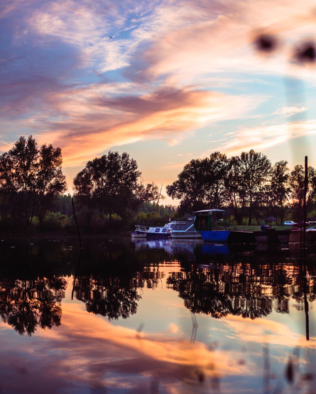 Reflexion, Sonnenuntergang, Wasser, Dämmerung, See, Struktur, 'Nabend, Dämmerung, im freien, Natur