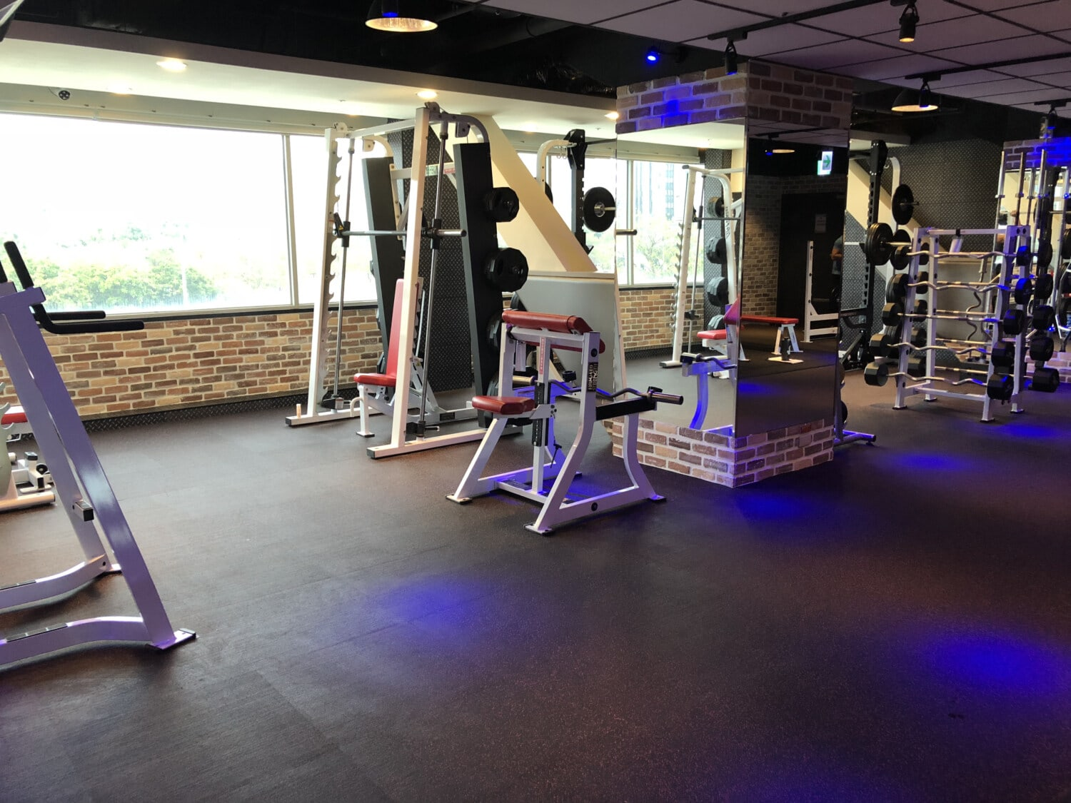 gym, sport, empty, exercise, device, treadmill, indoors, weight, room, fitness
