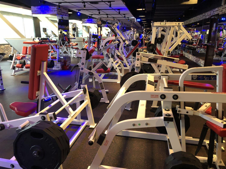 leere, Fitness-Studio, Hantel, Club, Maschine, Laufband, Sport, Übung, Ausstellung, Gewichtung