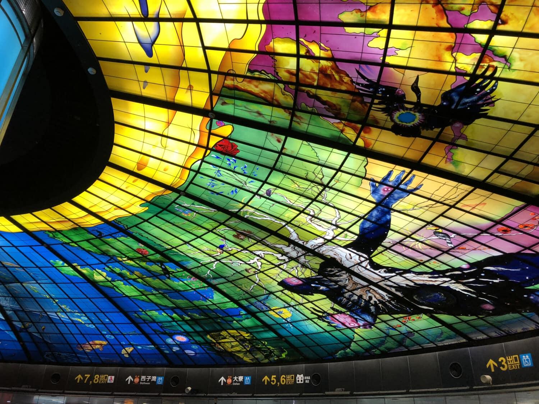 Farben, bunt, Decke, Glasmalerei, Kunst, Interieur-design, Innendekoration, Farbe, hell, Licht