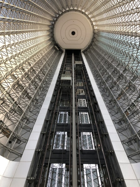 tower, elevator, building, architectural style, modern, majestic, sphere, stainless steel, round, futuristic