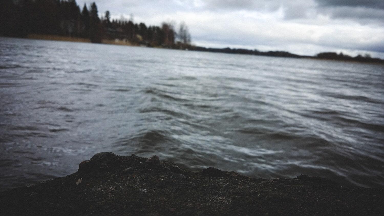 côte, vagues, mauvais temps, vent, au bord du lac, eau, paysage, océan, coucher de soleil, Hiver