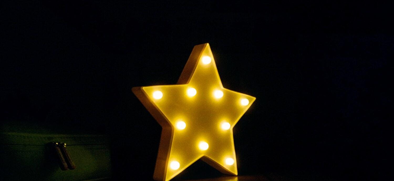gelb, Sterne, Beleuchtung, Licht, Glühbirne, Schatten, Dunkel, Dunkelheit, verwischen, Farbe