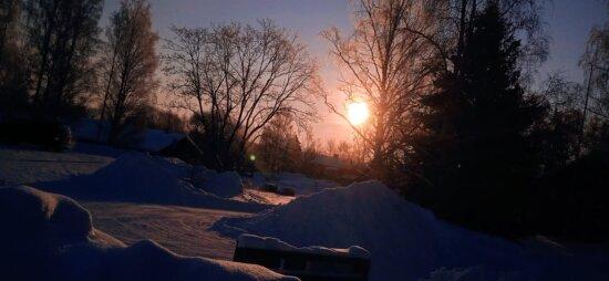 Bauernhof, 'Nabend, Bauernhaus, Winter, Sonnenuntergang, Ackerland, Silhouette, Schatten, Sonnenstrahlen, des ländlichen Raums