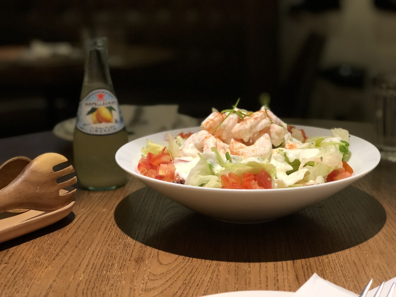Meeresfrüchte, Gericht, Limonade, Flasche, Platte, Salat, Essen, Abendessen, Mahlzeit, Restaurant