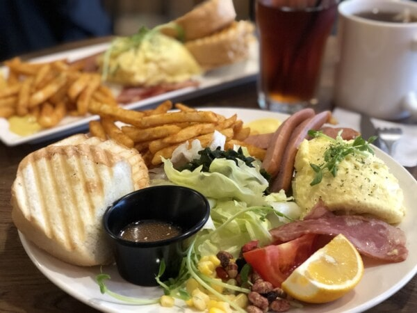 salami, potato, french fries, salad, breakfast, slice, lemon, parsley, delicious, food
