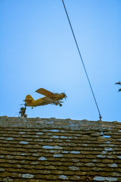 biplan, fly, siden, avgang, industri, landskapet, utendørs, teknologi, natur, fly