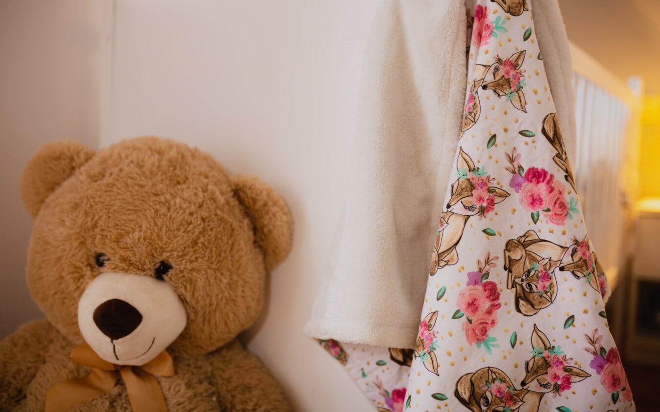 Braun, Plüsch, Teddybär Spielzeug, Spielzeug, Spielzeugladen, ausgestopft, Windel, Decke, Bär, niedlich