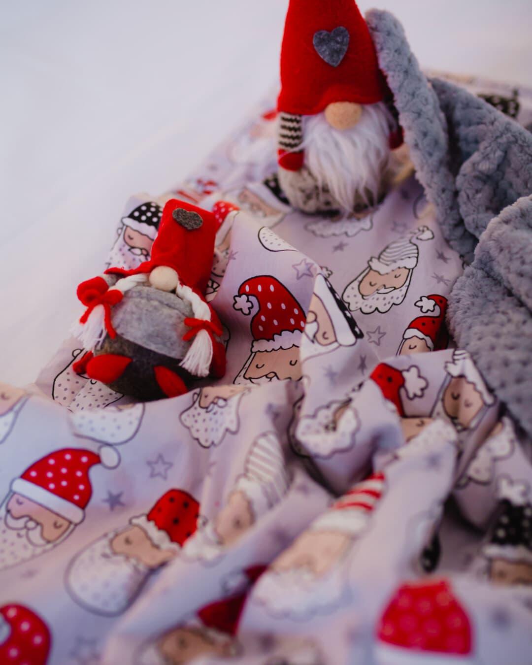 couverture, jouets, peluche, miniature, jouet, bonhomme de neige, bébé, poupée, lit, chapeau