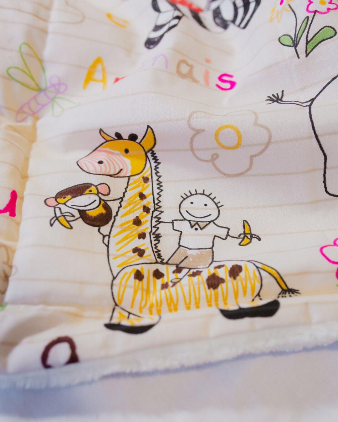 dessin animé, textile, texture, drôle, girafe, conception, illustration, amusement, art, mignon