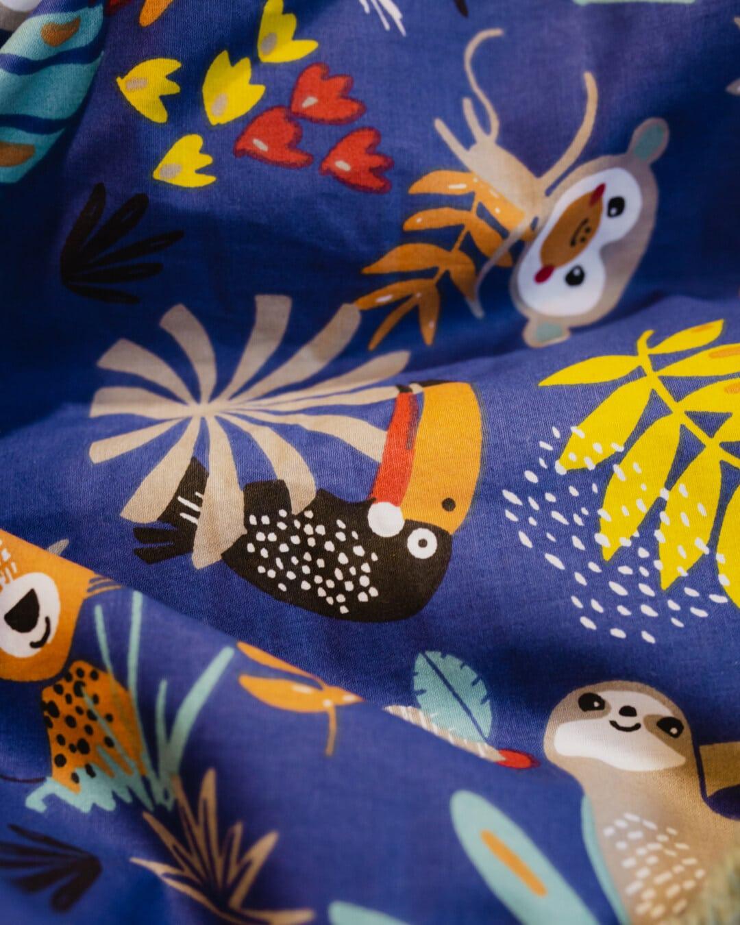 Textil-, Tiere, Baumwolle, Textur, Design, Stoff, Muster, Farbe, Nähen, Kunst