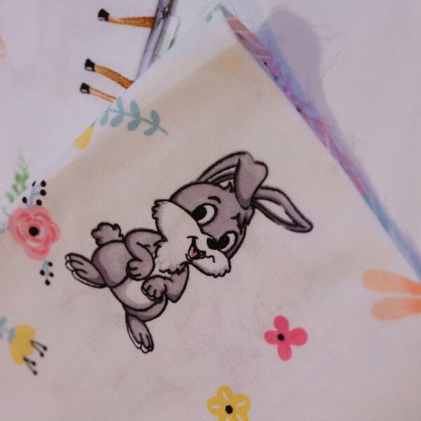 funny, bunny, rabbit, texture, textil, handkerchief, cotton, illustration, vintage, fabric