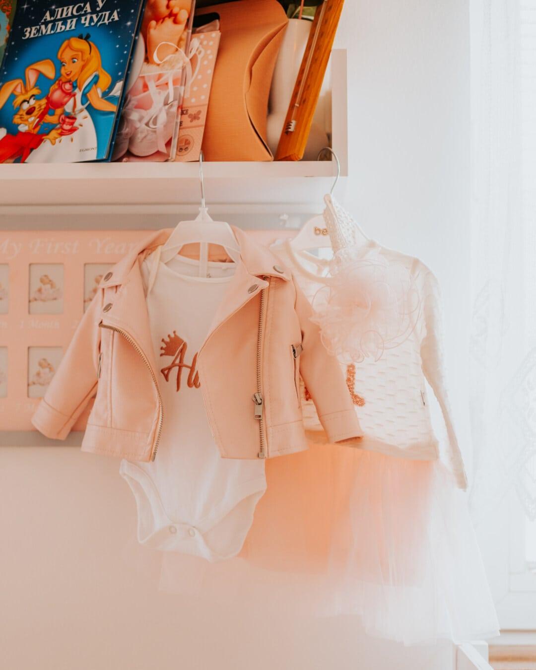 robe, veste, bébé, mode, à l'intérieur, élégant, stock, garde-robe, marchandise, joli