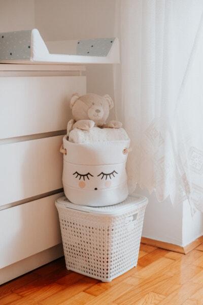 Teddybär Spielzeug, Ausrüstung, Zimmer, Baby, drinnen, Interieur-design, zeitgenössisch, Komfort, Möbel, Architektur