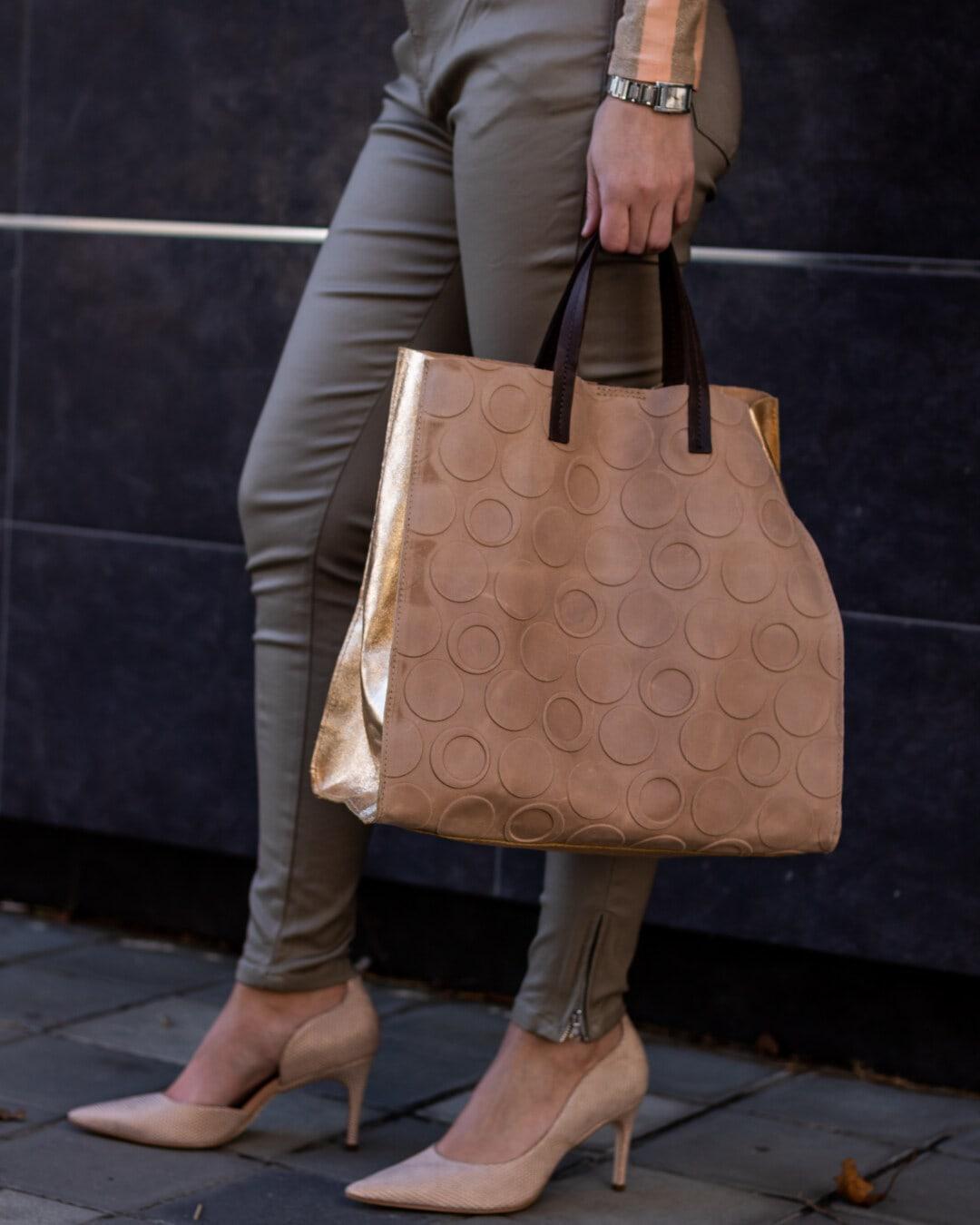 groß, Leder, Handtasche, Braun, Einkaufen, Shopper, Hose, grau, Gepäck, Mädchen