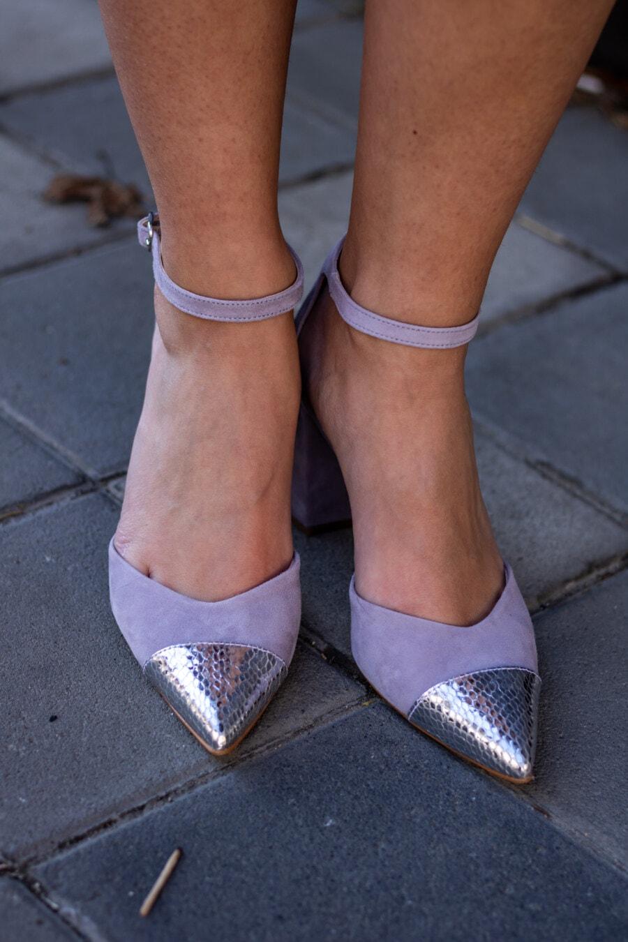 жена, краката, бос, сандал, лейди, класически, обувки, обувки, едър план, настилка