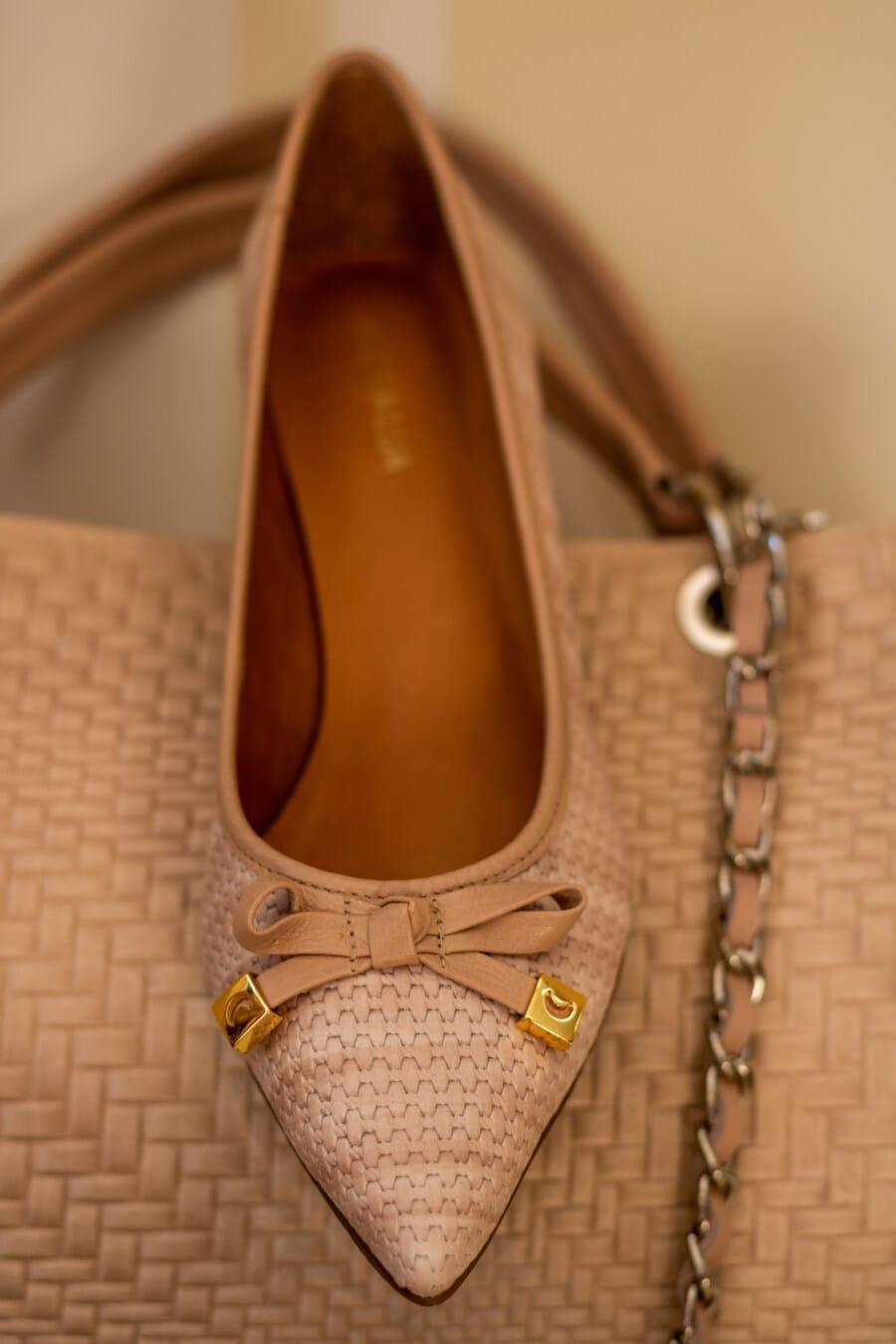 Handtasche, Sandale, hellbraun, Schuhe, aus nächster Nähe, gemütlich, Leder, Mode, Schuhe, elegant