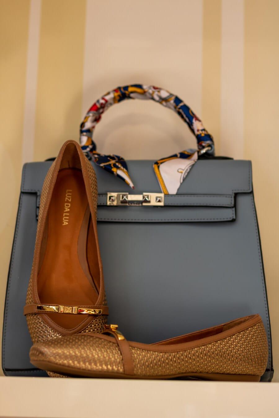 Einkaufen, Leder, Handtasche, Schuhe, Stil, elegant, Lust auf, Mode, Schuhe, Klassiker