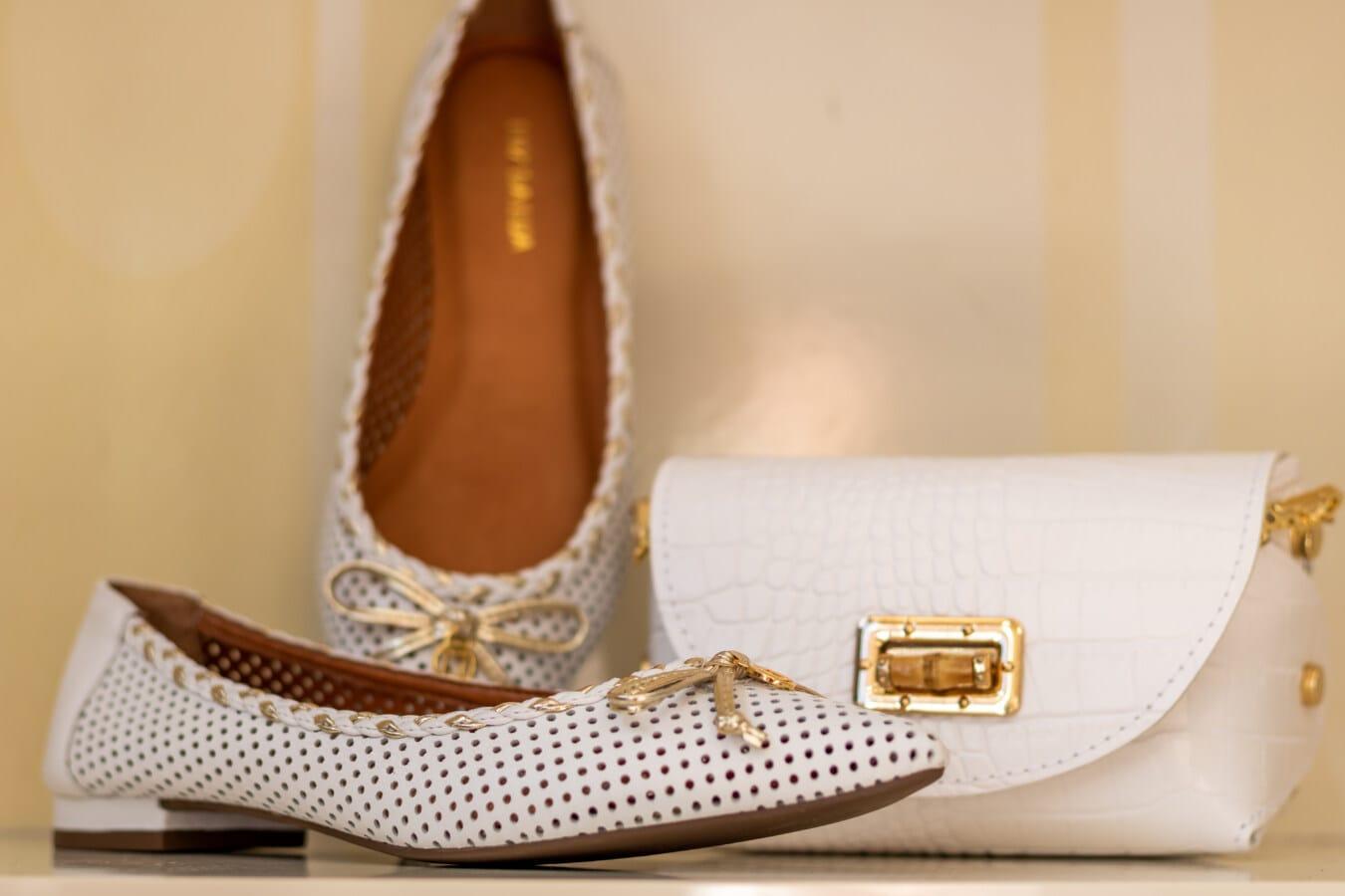 Schuhe, Sandale, gemütlich, weiß, Leder, Handtasche, Mode, Schuh, elegant