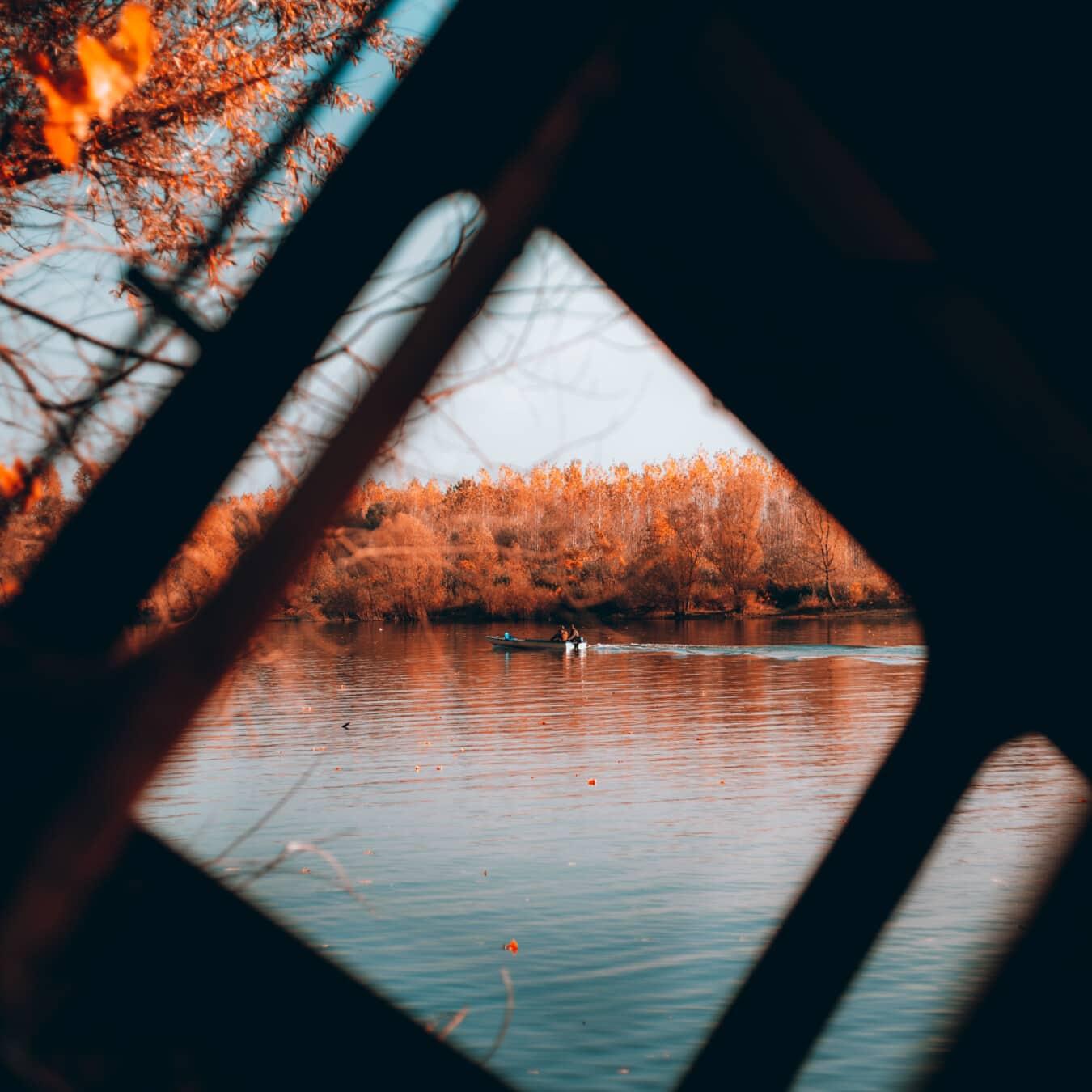 bateau de rivière, rivière, pêcheur, ombre, eau, coucher de soleil, nature, lumière, aube, soleil