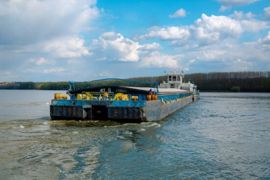 cargo ship, barge, river, Danube, heavy, transport, industrial, water, watercraft, ship