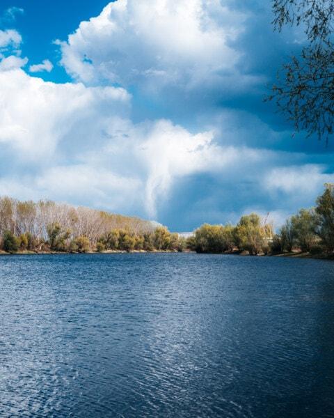 Ufer, Wasser, See, am See, Landschaft, Becken, Natur, Struktur, Holz, Reflexion