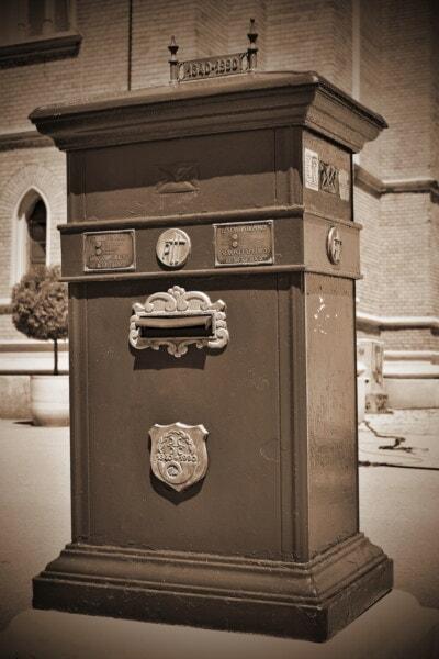 scanalatura di posta, casella di posta, area urbana, Via, vecchio stile, storico, casella, bianco e nero, classico, vecchio