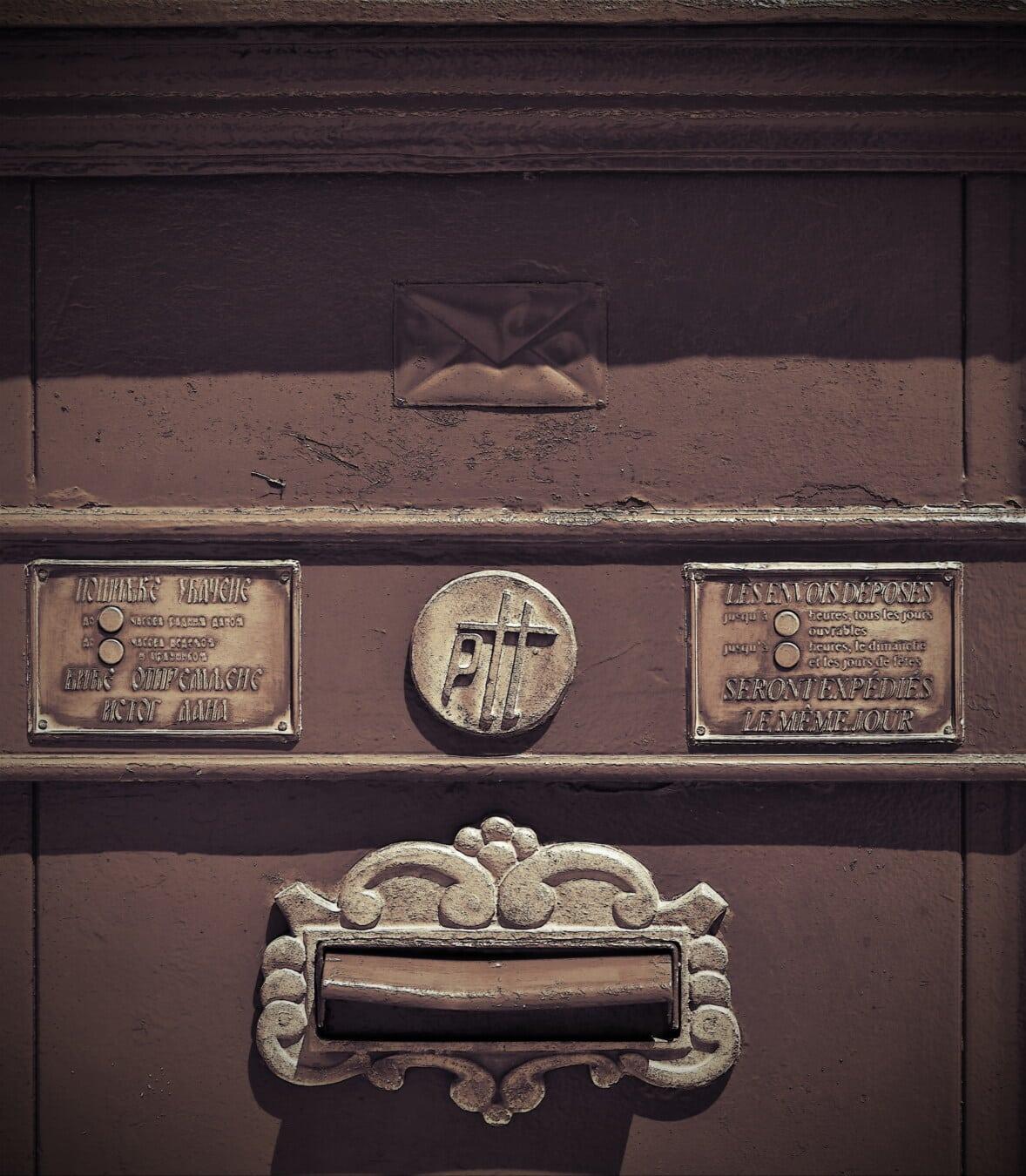 velho, história, caixa de correio, telégrafo, vintage, sinal, símbolo, retrô, clássico, caixa