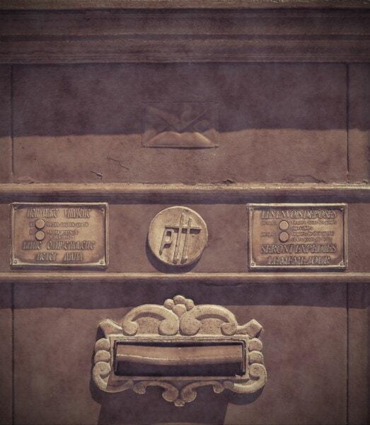 caixa do correio, caixa de correio, moda antiga, histórico, preto e branco, sépia, velho estilo, velho, sinal, símbolo
