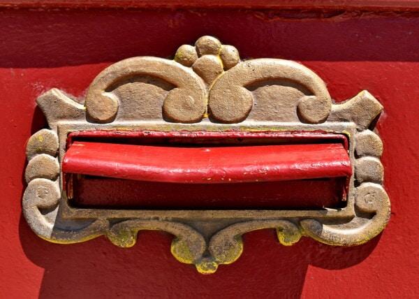 caixa do correio, ferro fundido, caixa de correio, bronze, latão, decorativos, exclusivo, decoração, velho, textura