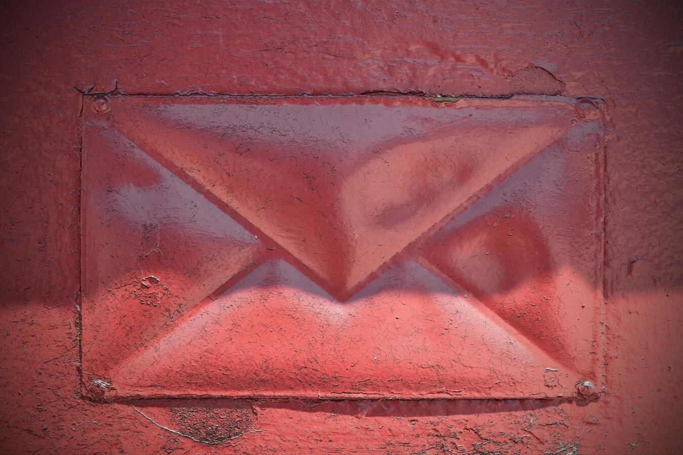 texture, vieux, Grunge, peinture, boîte aux lettres, signe, courrier, Metal, symbole, art