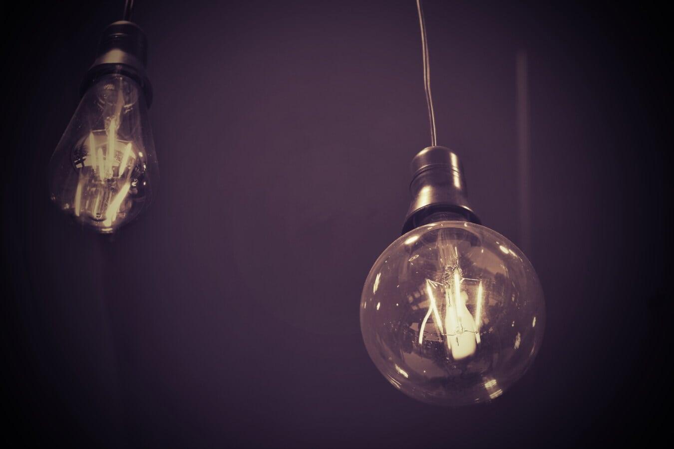 bec, agăţat, sârmă, umbra, întunericul, întuneric, ilustraţie, sticlă, sfera, decor