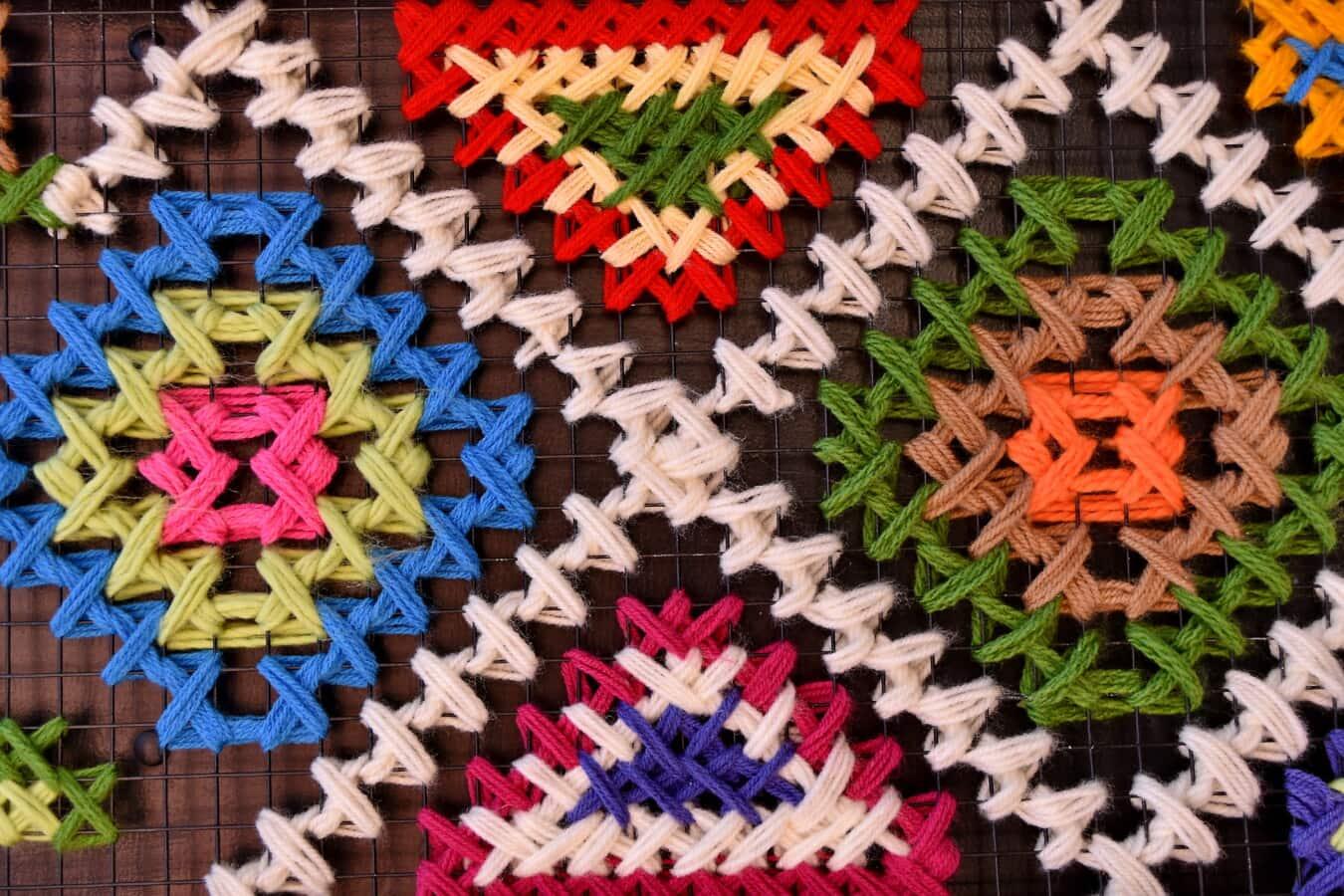 fiber, shape, wool, thread, geometric, traditional, craft, design, knot, handmade