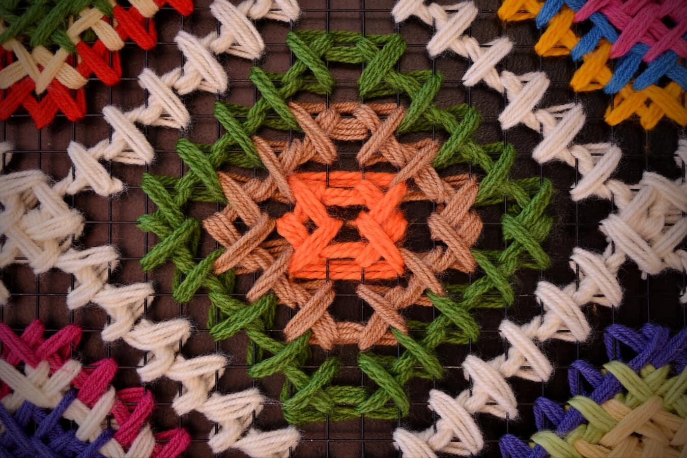 handgefertigte, Handwerk, Faser, Wolle, Design, Knot, Drähte, hausgemachte, Muster, Kunst