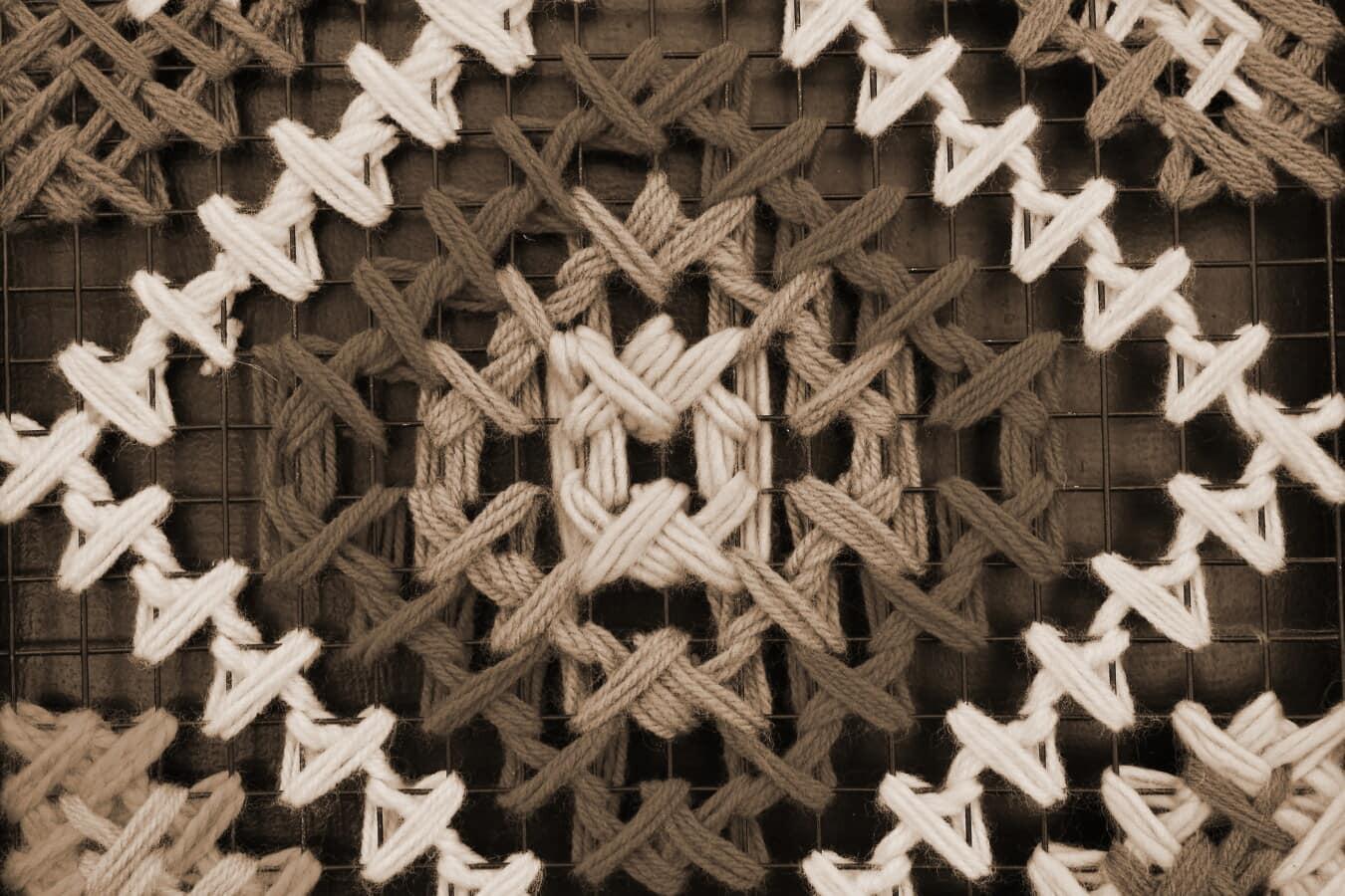 laine, grille, conception, thread, Metal, nœud, tradition, sépia, monochrome, texture