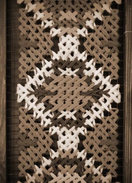 vertical, conception, thread, laine, nœud, monochrome, traditionnel, maison, vintage, sépia
