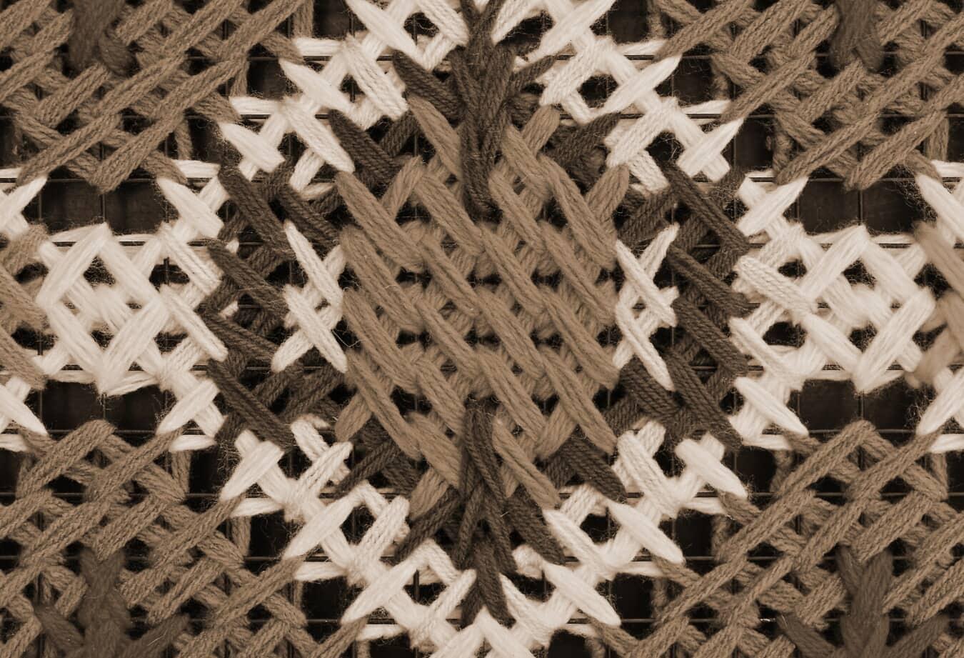 Sepia, Thread, handgefertigte, traditionelle, Wolle, Handwerk, abstrakt, Design, Muster, Textur