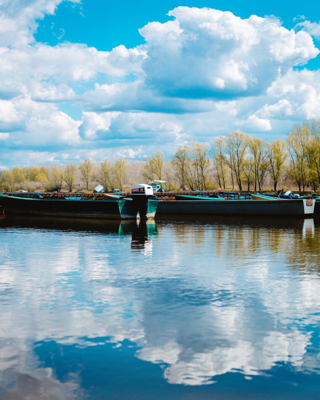 Boote, Flussschiff, Angelboot/Fischerboot, Wasser, Landschaft, See, Boot, Sommer, Fluss, Natur