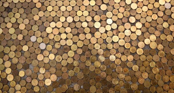 Münzen, Metall, glänzend, Bargeld, Textur, viele, Geld, glänzend, Messing, Reflexion