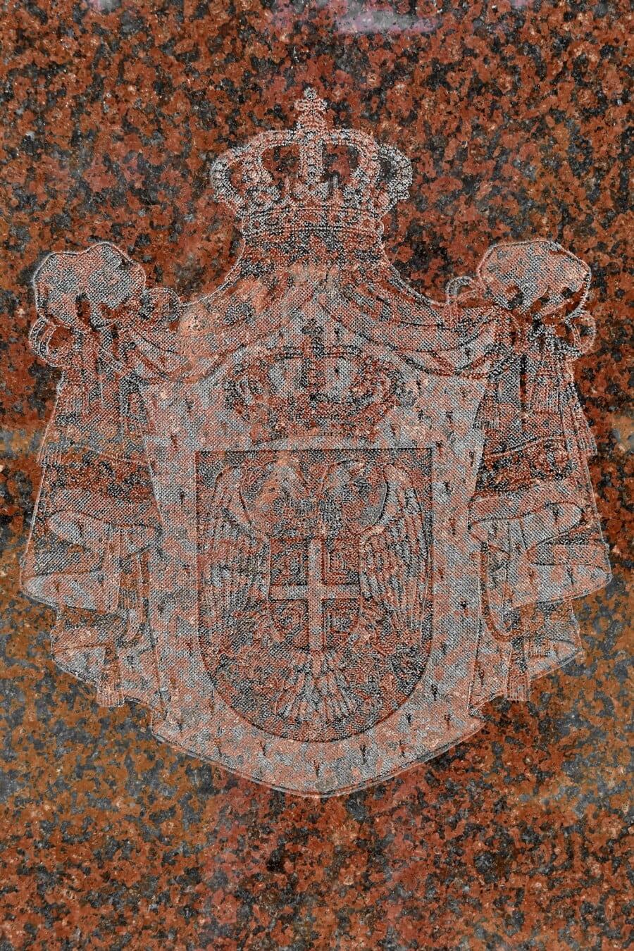 démocratie, Couronne, Serbie, signe, symbole, monarque, royaume, patrimoine, marbre, réflexion