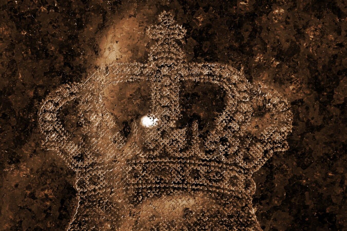 Couronne, lueur dorée, symbole, texture, réflexion, royaume, King, brillante, Rough, vieux