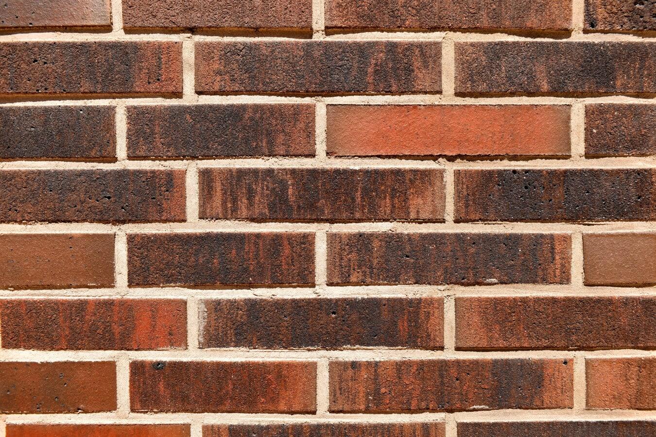 murstein, tekstur, vegg, vanlige, mur, brun, mønstre, vannrett, gamle, gammel stil
