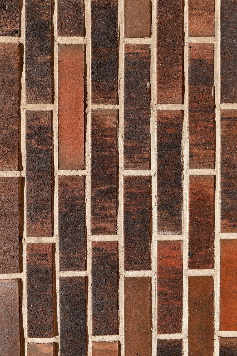 maçonnerie, briques, mortier, vertical, rouge foncé, bloc, vieux, mur, sale, texture