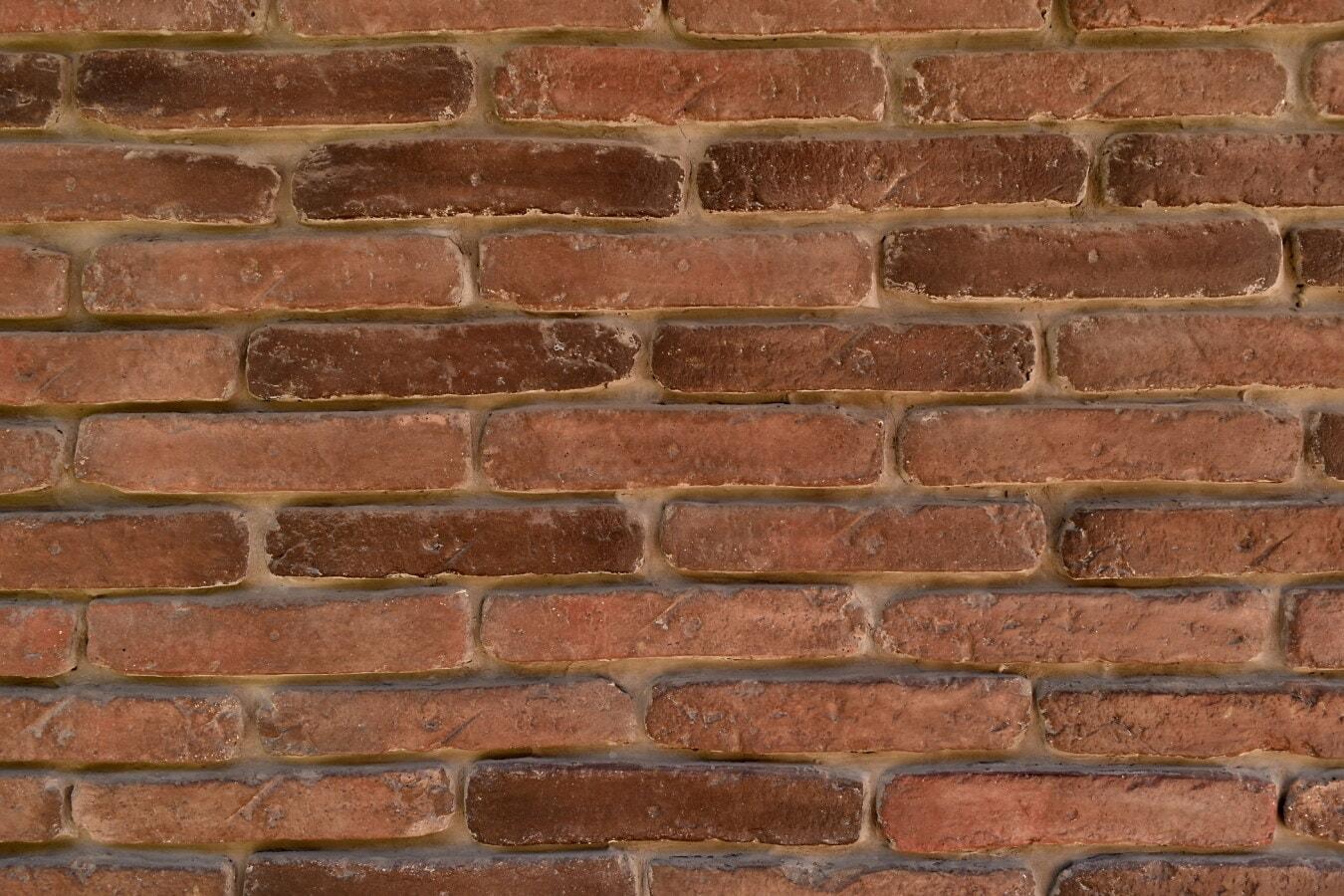 briques, texture, brun, mur, ciment, mortier, poussière, régulière, maçonnerie, surface