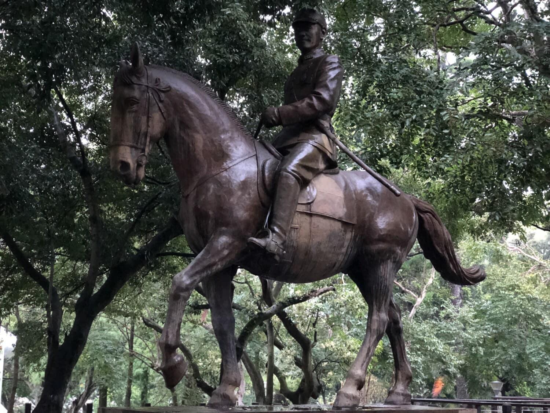 Denkmal, Taiwan, Skulptur, Bronze, Allgemeine, Soldat, Kavallerie, Pferd, Statue, Tier