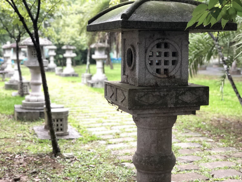 Tchaj-wan, parku, Lucerna, sochařství, beton, zahrada, krabice, kontejner, venku, tráva